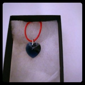 Jewelry - Dance Blue Crystal Heart Necklace